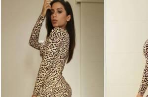 Anitta mostra bumbum avantajado com vestido de oncinha de R$ 7 mil nos EUA