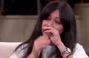 Atriz de 'Barrados no Baile' chora ao falar de câncer na TV: 'Queríamos filhos'