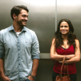 No filme 'Apaixonados', dirigido por Paulo Fontenelle, Cássia (Nanda Costa) e Léo (Raphael Viana) se apaixonam ao ficarem presos em um elevador