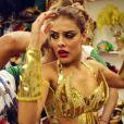 Paloma Bernardi, que em 2016 estreou à frente dos ritmistas da escola de samba Grande Rio, vive a rainha de bateria Sabine no filme 'Apaixonados'