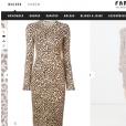 Anitta escolheu vestido de oncinha da grife Givenchy. Na Internet, a peça pode ser comprada por R$ 7.410