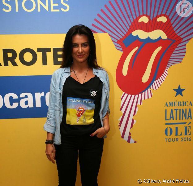 Solteira, Cleo Pires também esteve no show dos Rolling Stones
