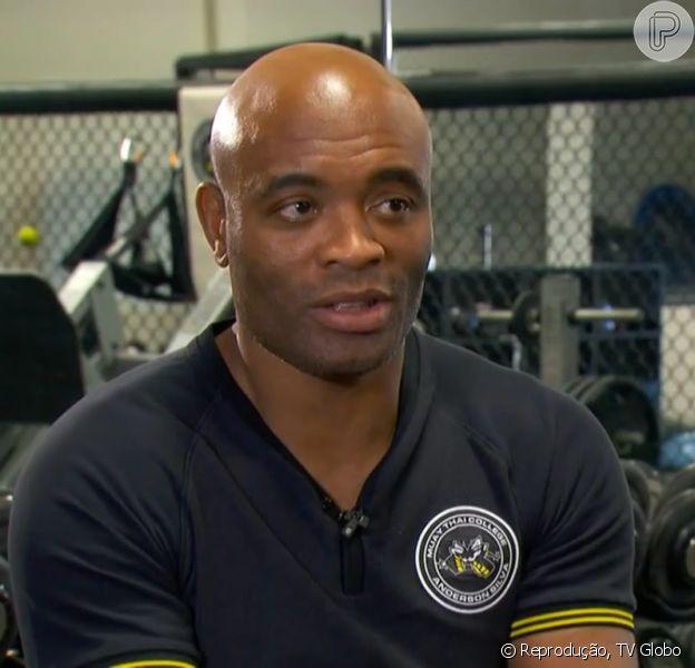 Anderson Silva diz que está '101% pronto' para luta contra Michael Bisping, no 'Fantástico', em 21 de fevereiro de 2016