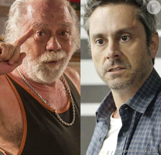 'A Regra do Jogo': Ascânio (Tonico Pereira) chantageia Romero (Alexandre Nero) ao descobrir que ele está vivo