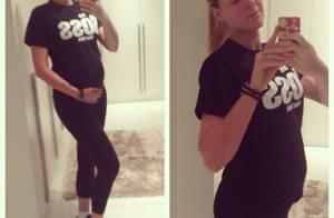 Ana Hickmann, grávida, não dispensa a malhação: 'Vou levar o Jr. para academia'