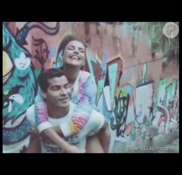 Thiago Martins e Paloma Bernardi gravam a primeira campanha publicitária juntos