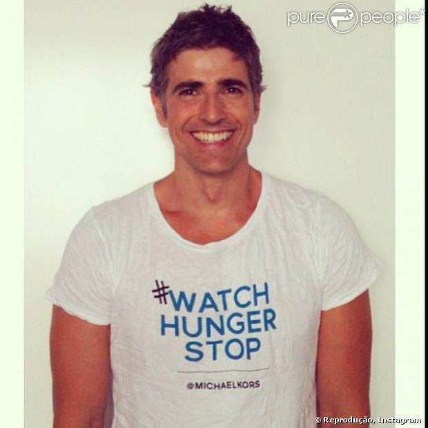 Reynaldo Gianecchini posou em apoio a campanha contra a fome organizada por Michel Kors em parceria com o Programa Mundial de Alimentos das Nações Unidas