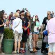 Steven Tyler admirou o monumento símbolo da cidade do Rio de Janeiro