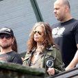 Steven Tyler visitou o Cristo Redentor antes de se apresentar com o Aerosmith nesta sexta-feira, em 18 de outubro de 2013