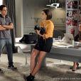 Giane (Isabelle Drummond) passa de estagiária a fotógrafa oficial da agência de Caio (Thiago Amaral), em 'Sangue Bom'