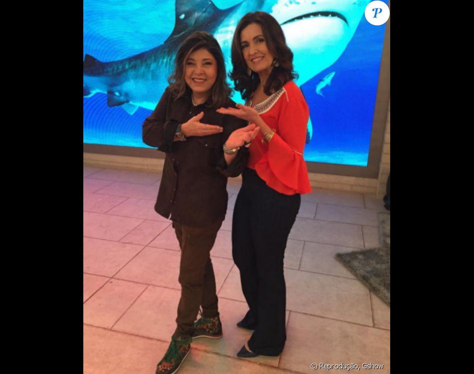 Roberta Miranda comete gafe no programa 'Encontro com Fátima Bernardes', nesta terça-feira, dia 05 de julho de 2016