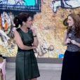Nathalia Dill foi elogiada pelo sotaque por Fátima Bernardes: 'Você tá quase uma mineira!'