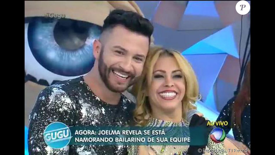 Joelma negou que esteja namorando um bailarino de sua equipe, durante participação no programa 'Gugu' desta quarta-feira, 6 de julho de 2016: 'Estou muito apaixonada... Mas não por ele'