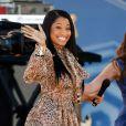 """Em 2014, Nicki Minaj usou um vestido de Patrícia Bonaldi durante uma participação no programa """"Good Morning America"""", do canal ABC"""
