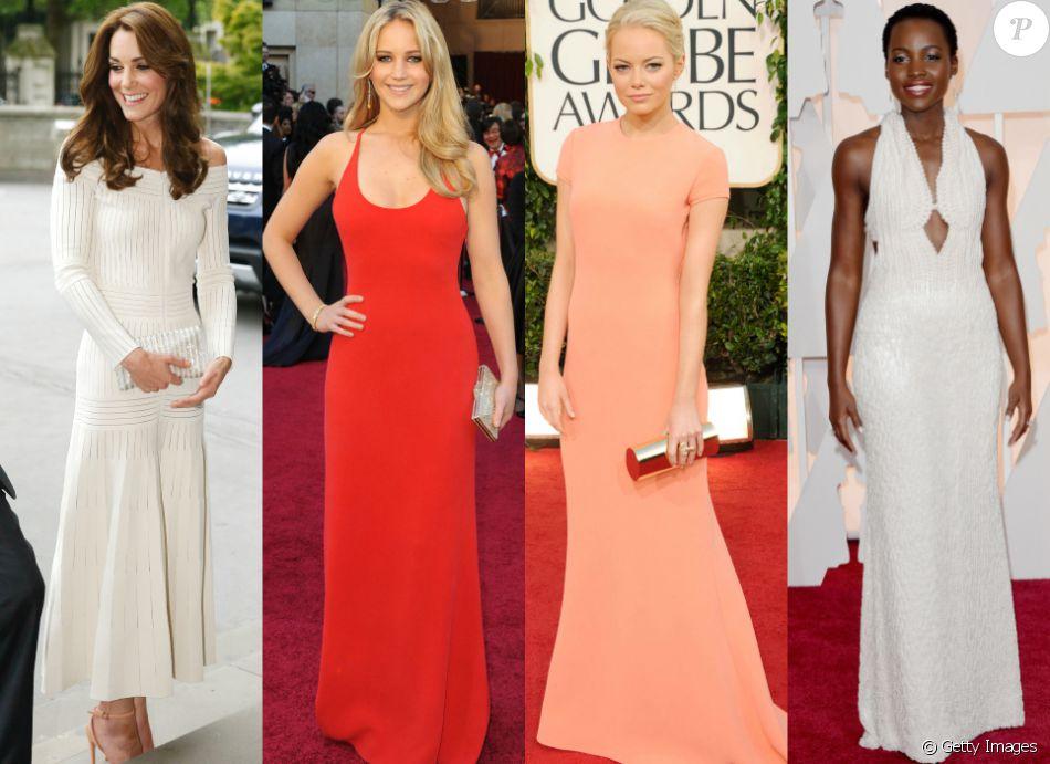 5668ff700 Confira os looks das famosas internacionais como Kate Middleton, Jennifer  Lawrence, Emma Stone,