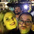 Dani Calabresa curtiu a festa na companhia dos colegas de elenco do 'Zorra Total', nesta sexta-feira, 8 de julho de 2016