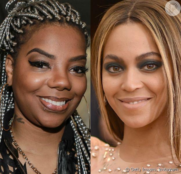 Ludmilla se divertiu após ser confundida com Beyoncé em parada de sucessos internacional, no sábado, 9 de julho de 2016