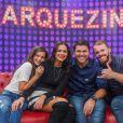 Bruna Marquezine formou um grupo com a irmã, Luana, e os primos Fábio e Gabriel