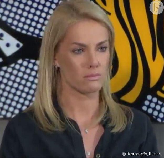 Ana Hickmann chorou em entrevista ao programa 'Domingo Espetacular', da Record, exibido neste domingo, 10 de julho de 2016