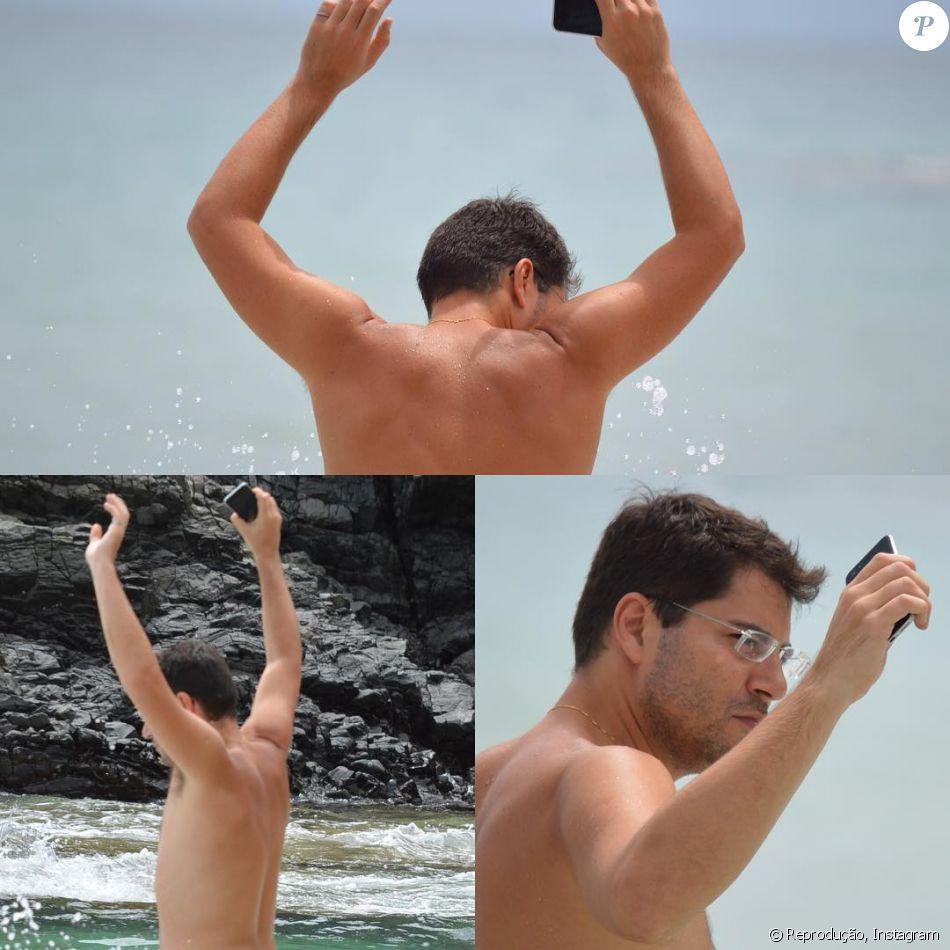 Evaristo Costa aparece sem camisa em foto na praia e fãs pedem: 'Nudes urgente'