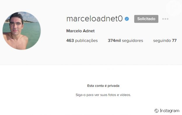 Marcelo Adnet colocou sua conta do Instagram em modo privado