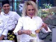 Ana Maria Braga deixa cair mosca em calda de bolo: 'Era um queimadinho do fundo'