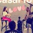 Fernanda Souza mostrou bastidores de gravação de seu novo programa com o marido, Thiaguinho, no Instagram