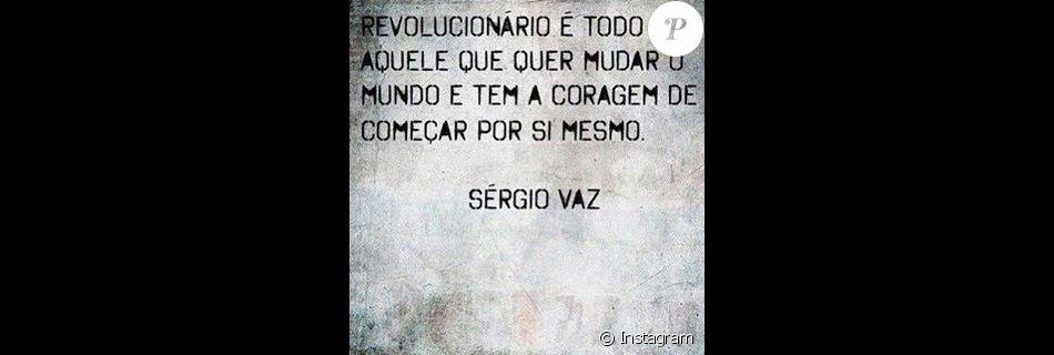 Yasmin Brunet Publicou Foto Com Frase Do Poeta Brasileiro Sérgio Vaz