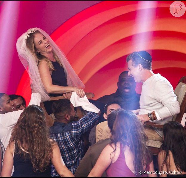 Luciano Huck e Angélica relembraram seu casamento na primeira gravação da nova temporada do 'Esquenta'