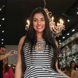 Ex-BBB Munik participou do lançamento de uma coleção de moda em São Paulo