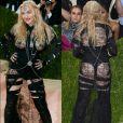 Madonna ousou no Met Gala 2016 com vestido  da grife Givenchy  que deixava bumbum e os seios à mostra