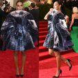 Em 2015, a irmã de Beyoncé Solange Knowles chamou atenção no Met Gala com look inusitado que parecia uma grande concha