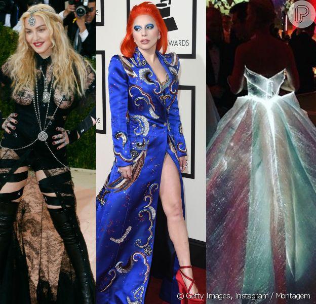 Madonna, Lady Gaga, Claire Danes e outras famosas - internacionais e nacionais - já usaram looks inusitados! Confira na galeria!
