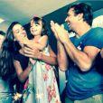 Marcelo Faria, a mulher, Camila Lucciola, e a filha do casal, Felipa. No dia do aniversário de Camila, em outubro, Marcelo postou fotos em sua conta do Instagram em homenagem a mulher
