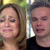 'Vídeo Show': Susana Vieira e Otaviano Costa choram em novo quadro. 'Emocionado'