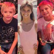 Fernanda Lima é comparada aos filhos gêmeos em foto de infância: 'Sua cópia'