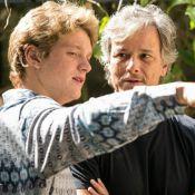 Marcello Novaes acompanha o filho Pedro em gravação da novela 'Sol Nascente'