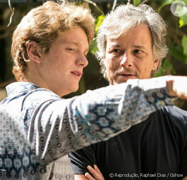 Marcello Novaes acompanha gravação do filho nos bastidores de 'Sol Nascente'