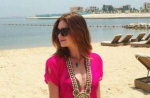 Marina Ruy Barbosa usa look decotado durante viagem de férias para o Qatar