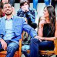 Rodrigo Minotauro e Miss Nathalia Pinheiro foram juntos ao 'Altas Horas'
