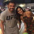 Rodrigo Minotauro e Miss Nathalia Pinheiro assumiram o namoro em novembro de 2015