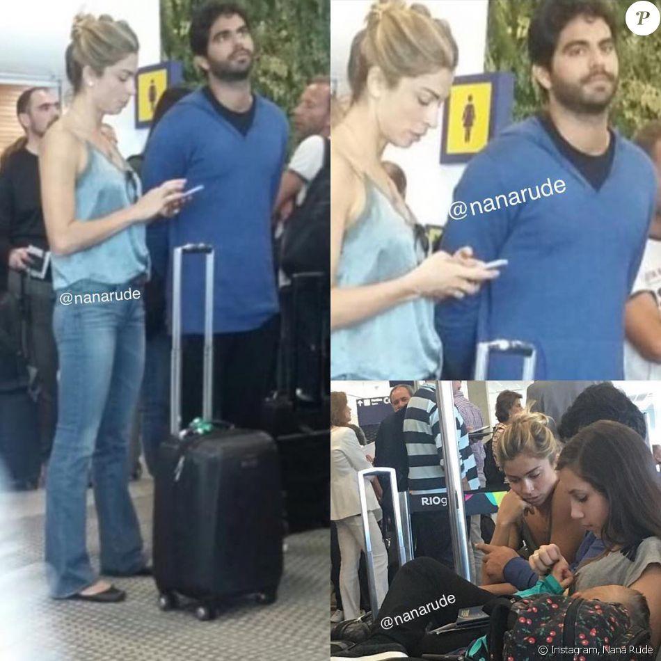 Grazi Massafera é vista com Patrick Bulus em aeroporto no Rio