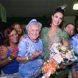 Milena Nogueira é coroada rainha de bateria da Império Serrano, em Madureira, no Rio de Janeiro
