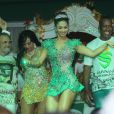 Milena Nogueira mostra samba no pé na quadra do Império Serrano, em Madureira, no Rio de Janeiro
