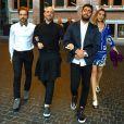 Luana Piovani e Paulo Gustavo passeiam com seus maridos, Pedro Scooby e Thales Bretas