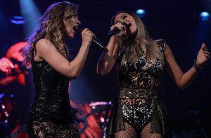 Wanessa agita fãs ao cantar com mexicana Maite Perroni em show, em SP. Vídeos!