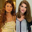 Alinne Moraes, que tem os cabelos originalmente cacheados, também adere aos fios lisos