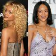 Rihanna vive modificando os cabelos e já aderiu à moda dos fios cacheados e lisos