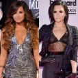 Demi Lovato é outra celebridade que sempre varia o visual, usando tanto cabelos cacheados e lisos nas apresentações
