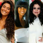 Liso ou cacheado? Veja fotos das famosas que já apostaram nos dois cabelos